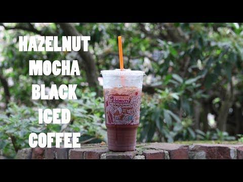 Hazelnut Mocha Black Iced Coffee from Dunkin' Donuts review