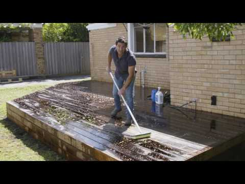 The Home Team Season 3 - DIY How to Clean a New Deck before Staining
