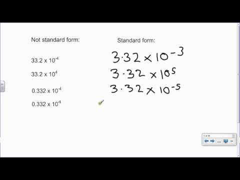 P1 Standard form 1   Converting large and small numbers into standard form