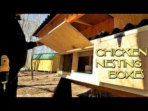 Chicken Coop Build, part 6, Nesting Box