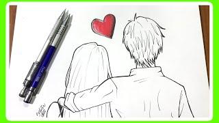 Como Desenhar Casal Namorados