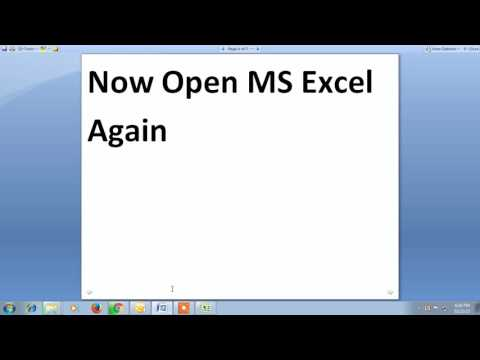 How to view excel 2007 in separate window!