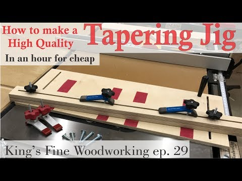 29 - How to make a Tapering Jig in an hour (for little money)