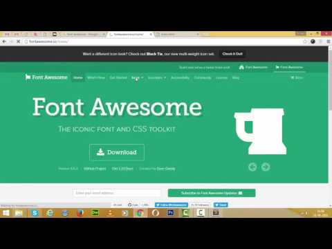 how to use font awesome in html file in hindi