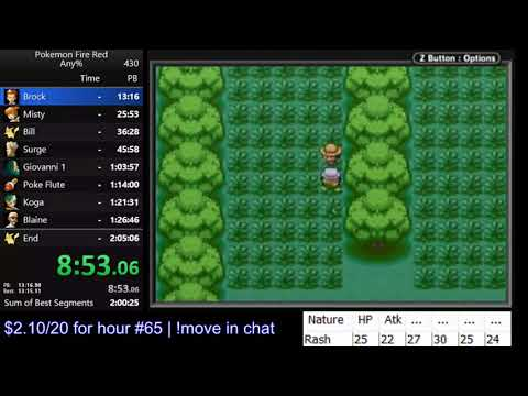 Pokemon Fire Red any% speedrun in 2:04:22