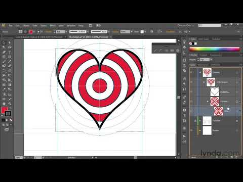 Illustrator tutorial: Paste shapes inside of other shapes | lynda.com