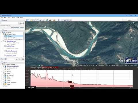 Generate Elevation Profile in Google Earth Pro - Case Study of Rivers in France & India