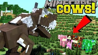 Minecraft: 16 EPIC NEW COWS!!! (GAMINGWITHJEN COW, SMART COW, & MORE!!) Mod Showcase