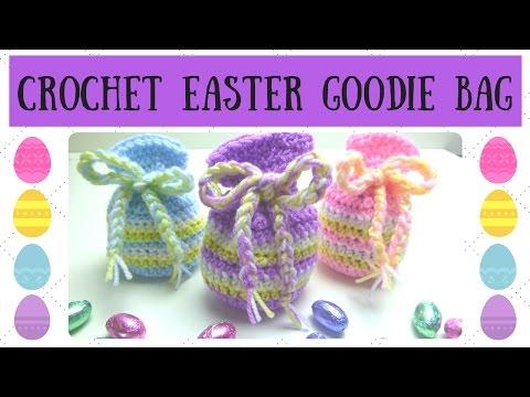 Crochet Tutorial - How To Crochet An Easter Egg Goodie Bag