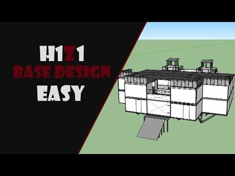 H1Z1 Base Design  !! EASY !! [H1Z1] (Sketchup)