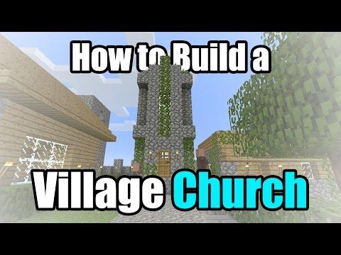 How to Build a NPC Church MINECRAFT