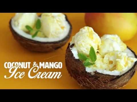 Coconut and Mango Ice Cream