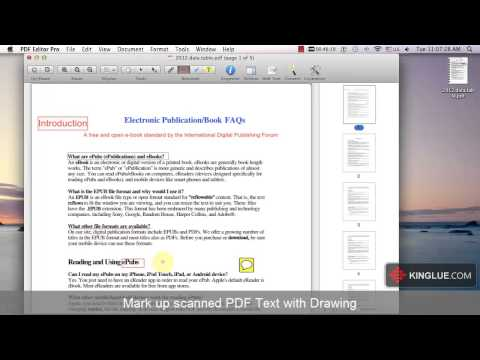 [PDF Editor for Mac] How to Edit Scanned PDF documents on Mac?
