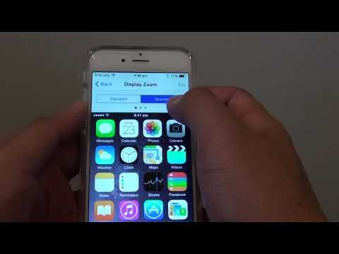 iPhone 6: How to Enlarge Home Screen Icons with Display Zoom Settings