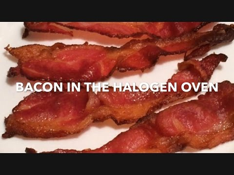 Bacon in the halogen oven (comparison)