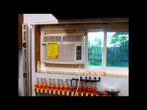 Install Window Air Conditioning AC in Horzontal Slider