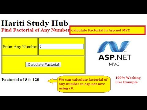 Implement Code to Calculate Factorial of Any Number in Asp.Net MVC   Hindi   Free Online Classes