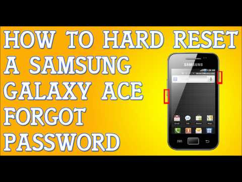 Forgot Password Samsung Galaxy Ace S5830 How To Hard Reset