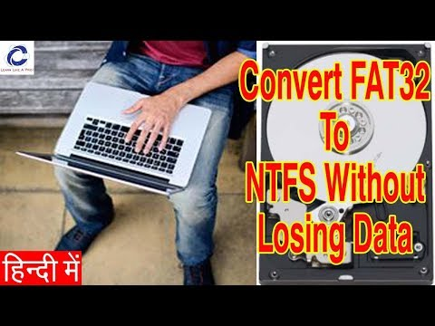 Convert FAT32 to NTFS without losing data...