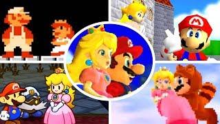 Evolution of Mario rescues Princess Peach (1985-2017)