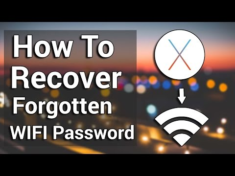 How To Find And Recover Forgotten WiFi-Password on Mac OS