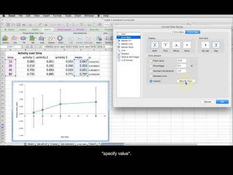 Excel Mac Part 3 - custom error bars