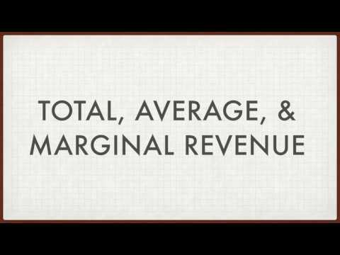 Total Average Marginal Revenue