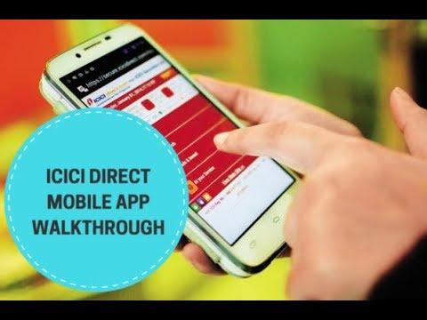 ICICI Direct Mobile App Basic Walkthrough 2017