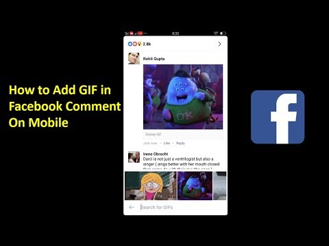 How to Add GIF in a Facebook Comment on Mobile 2018