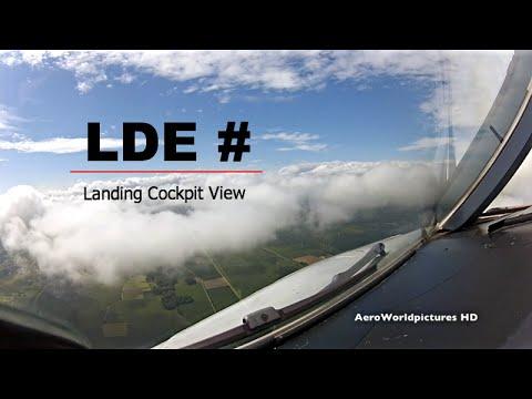 Landing at Tarbes–Lourdes–Pyrénées Airport (LDE/LFBT) France - Cockpit View
