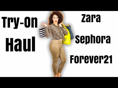 TRY ON Fall Haul   Makeup and Fashion Buys   Forever21, Sephora & Zara   #haul