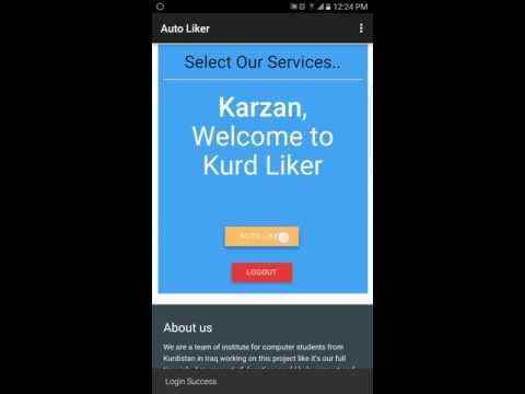 Facebook Auto Liker | Kurd Liker app android Tutorial For Users 2017