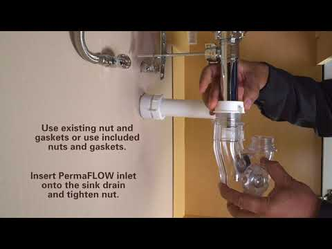 How to Install PermaFLOW No Clog P-Trap by PF WaterWorks - Retrofit Install 1-1/2