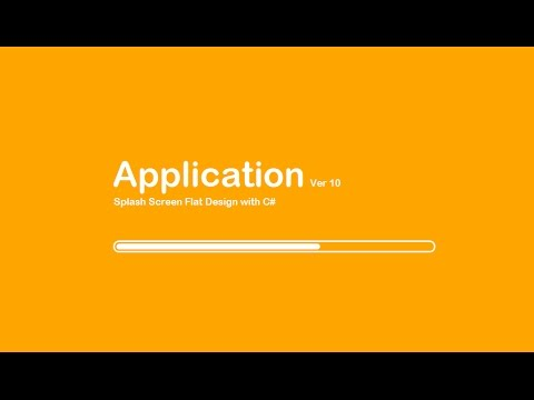 Visual Studio 2012, 2013, 2015 C# and VB NET Tutorial Flat Design Splash Screen