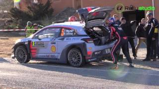 Rally Monte Carlo 2017-Thierry Neuville puncture
