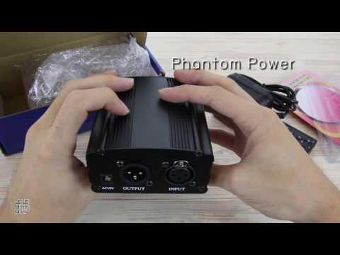 Elit เครื่องขยายสำหรับไมโครโฟน คอนเดนเซอร์ Phantom Power 48V