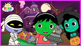 Download Ryan Halloween Trick or Treat to the Haunted House for kids! Cartoon Animation For Children Video