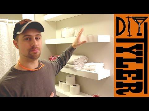 Easy Floating Bathroom Shelves
