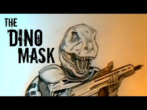 How to Draw the Dino Mask from Battlefield Hardline