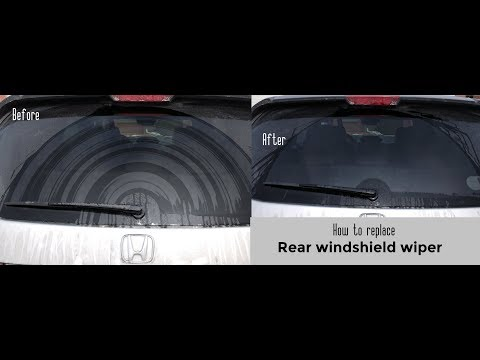 How to replace rear windshield wiper DIY video