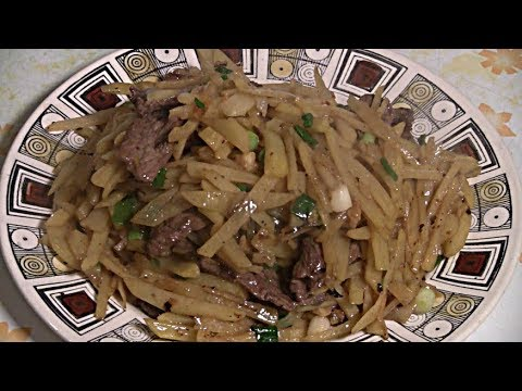 Beef And Potato Stir Fry  (Easy Chinese Cooking)