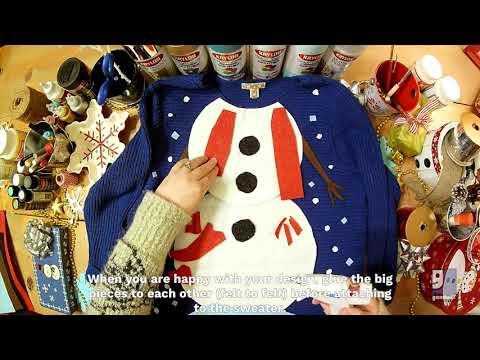 DIY Snowman Sweater