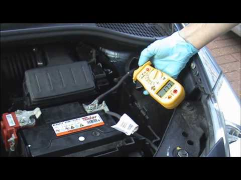 Car battery going flat how to check for a drain