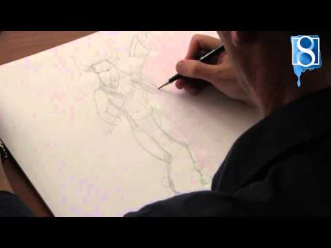 How to Draw a Minotaur step-by-step by Mark Bergin