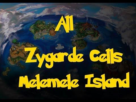 All Zygarde Cells: Melemele Island (Pokemon Sun/Moon)