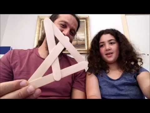 Making a boomerang with paddle pop  sticks part 1