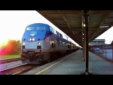 The Amtrak Palmetto #89 Arrives & Departs Charleston, SC [HD]