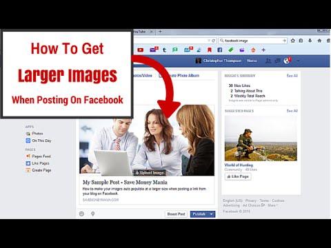 How To Make Larger Facebook Blog Post Images