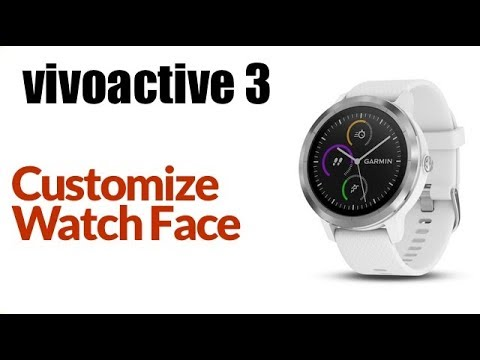 Garmin Vivoactive 3 - How To Change Default Watch Face