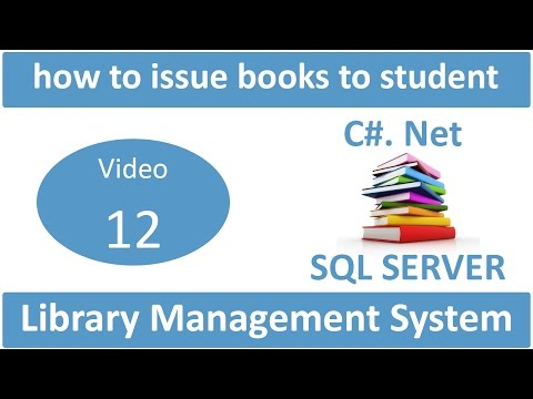 how to issue books to student in library management system project